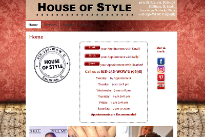 House of Style Home Page