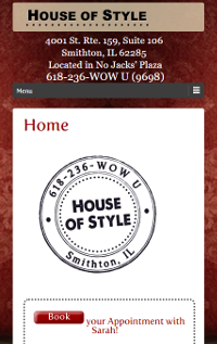 House of Style Responsive Page