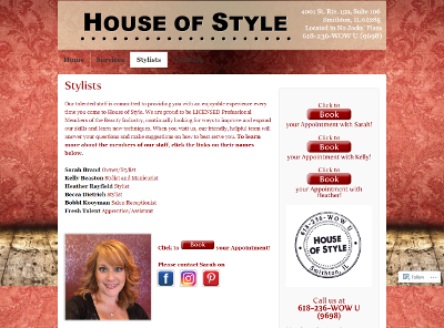 House of Style Stylist Page