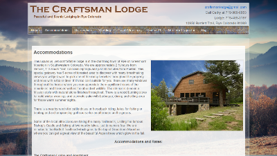 The Craftsman Lodge Accomodation Page