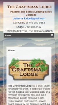 The Craftsman Lodge Responsive Home Page