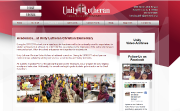Unity Lutheran Christian Elementary School Academics Page